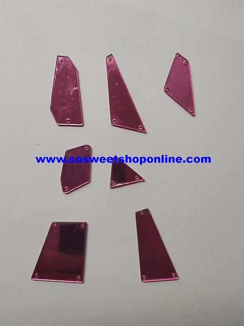 Cristales acrílicos de espejo rosas