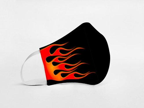 Mascarilla personalizable y lavable-Fuego