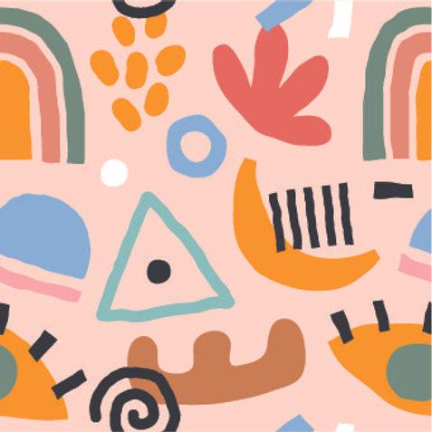 Mascarilla personalizable y lavable-Abstracto rosado