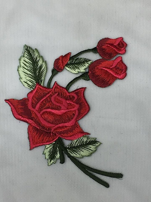 Ramillete pequeño de rosas rojas termoadhesivo