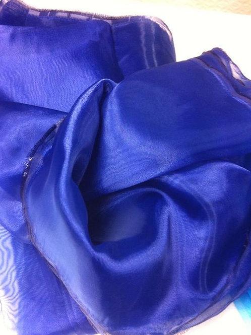 Organza cristal azulon