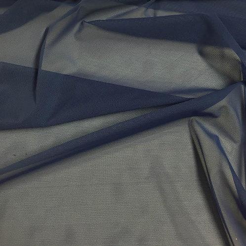 Azul acero tul transparente