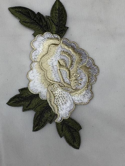 Flores bordadas termoadhesivas