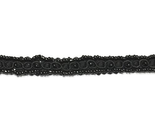 Galón negro con perlitas