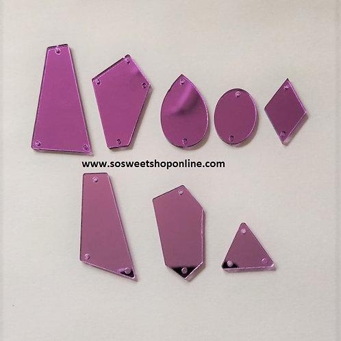 Cristales acrílicos de espejo morados claro