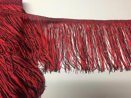 Flecos combinados rojo y negro