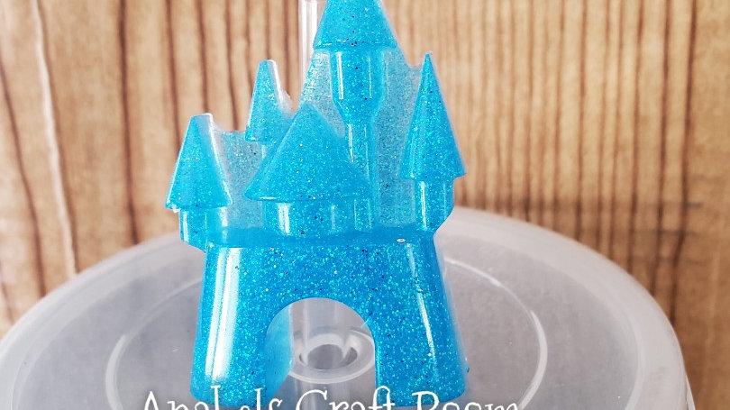 Blue Castle straw topper