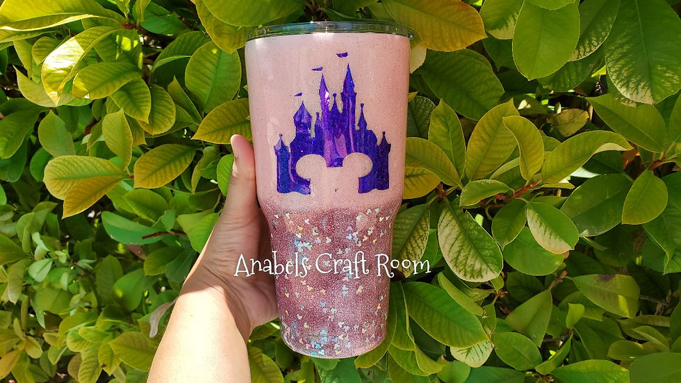 Pink/Rose Gold Mickey Castle
