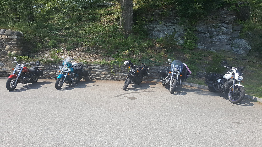 Our dedicated steeds of iron at Gillette Castle