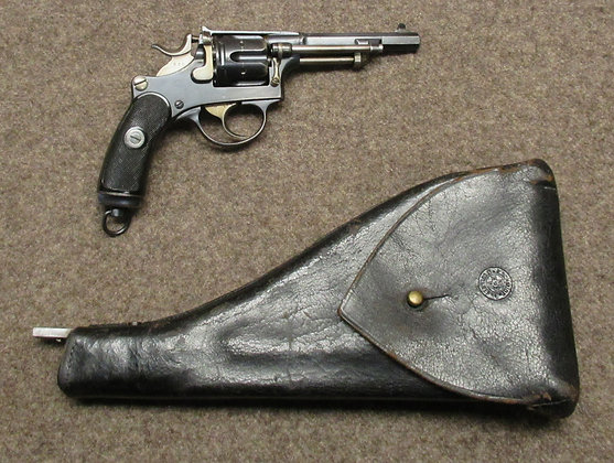 revolver W+F mod. 1882 cal. 7.5mm con calcio-fondina