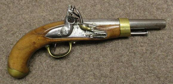 pistola pietra focaia ST ETIENNE mod. 1817 cal. 18mm