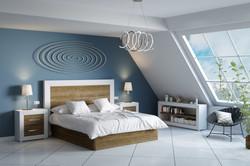 Dormitorio Blanco Roble