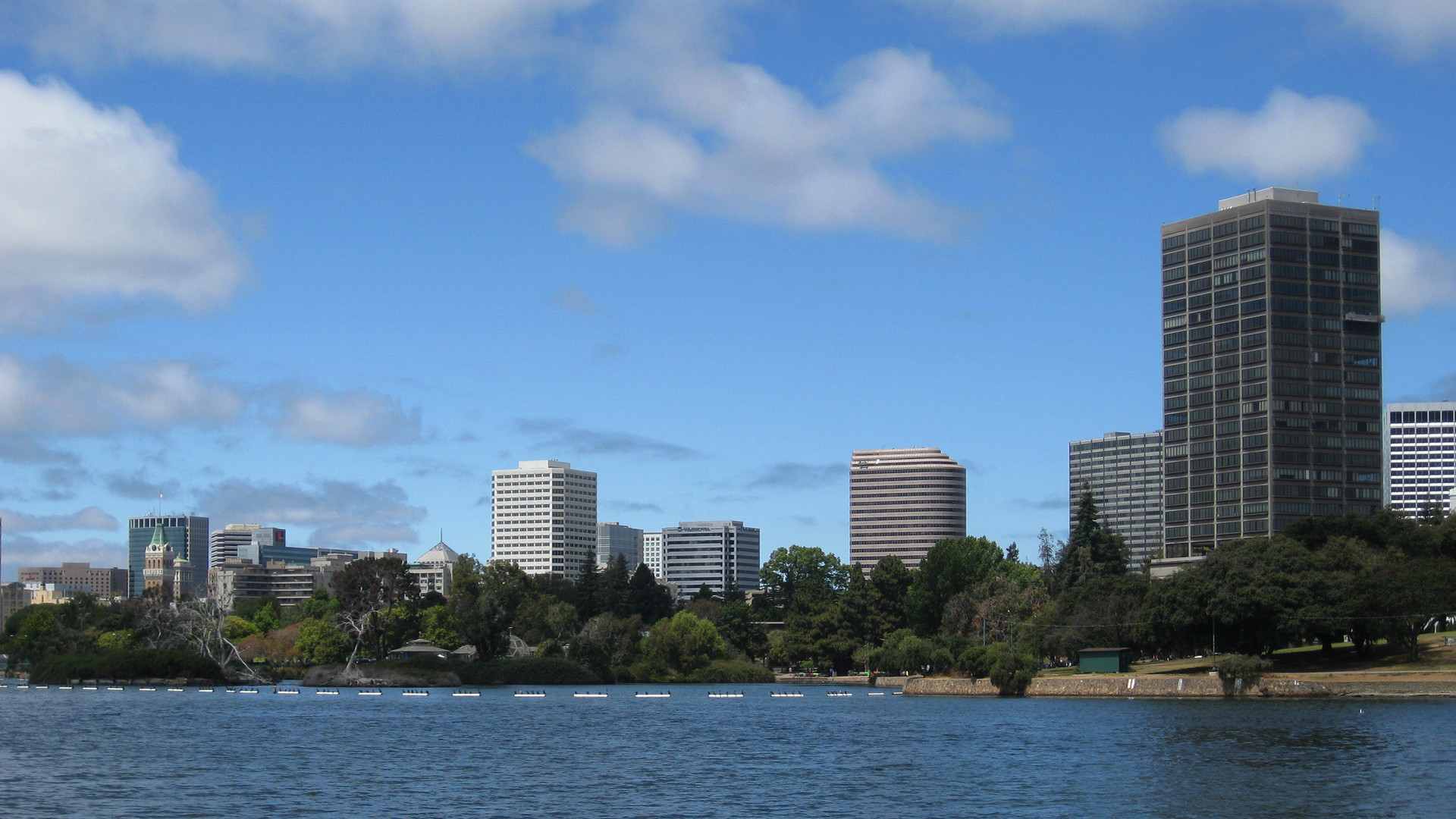 Downtown Oakland across Lake Merritt