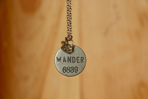 Let's Wander Necklace