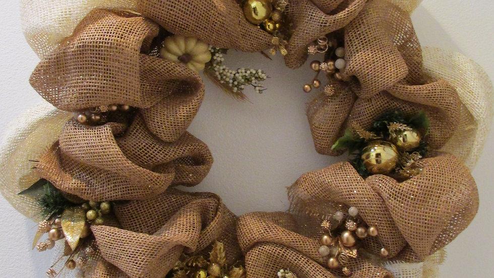 Burlap Breeze Wreath