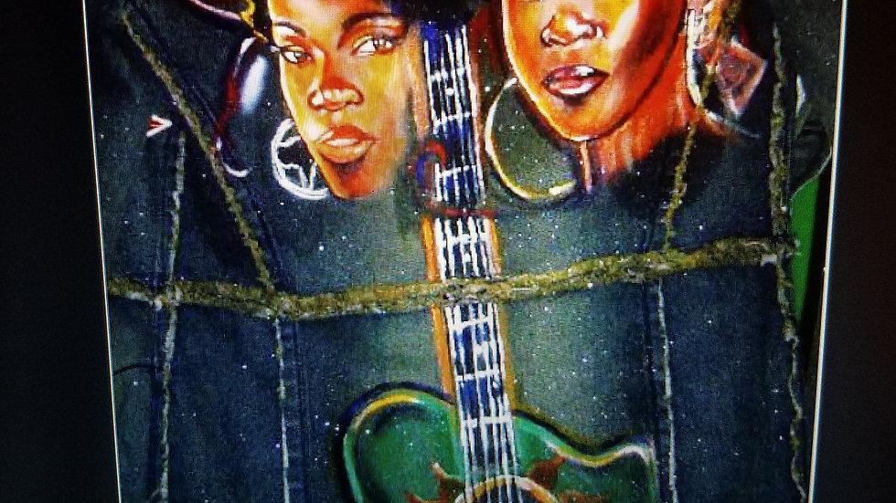 Music Love Custom Denim Jacket