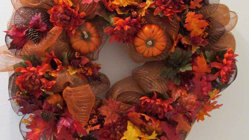 Pumpkin Patch Holiday Wreath