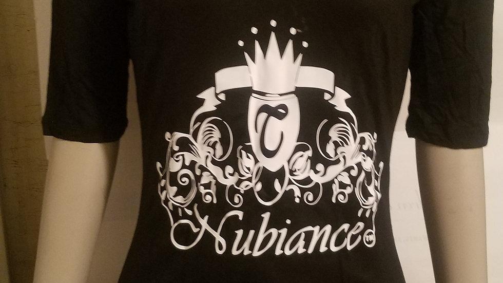 Nubiance Logo T-Shirt/Mini Dress-Black