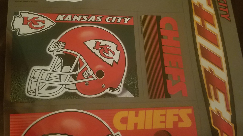 Kansas City  Chiefs Decals