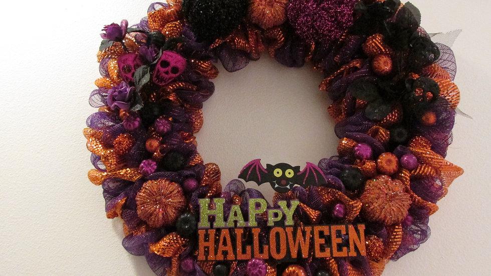 Custom Wreath - Happy Halloween