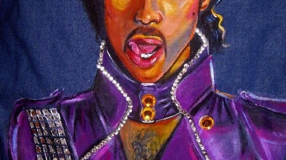 Custom Denim - Prince Purple Reign ThemedJacket
