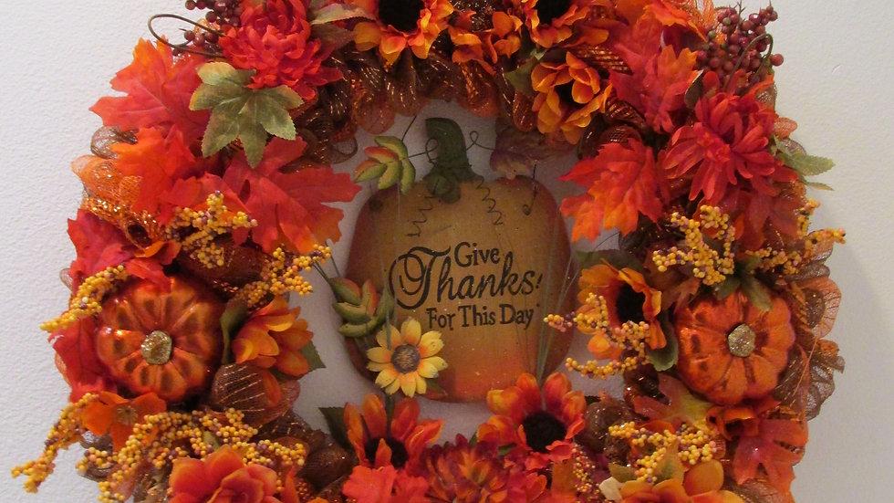 Thankful Thanksgiving Wreath