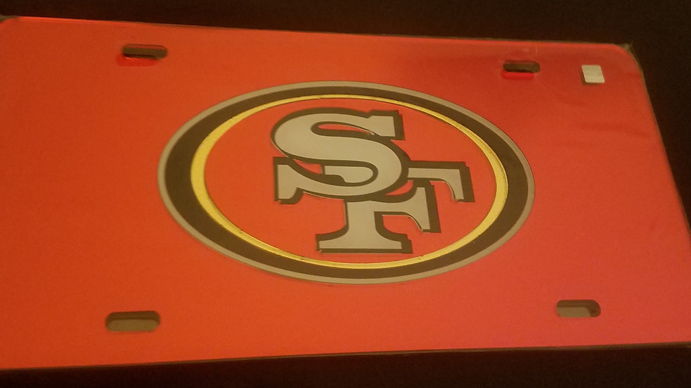 49ERS Plastic License Plate