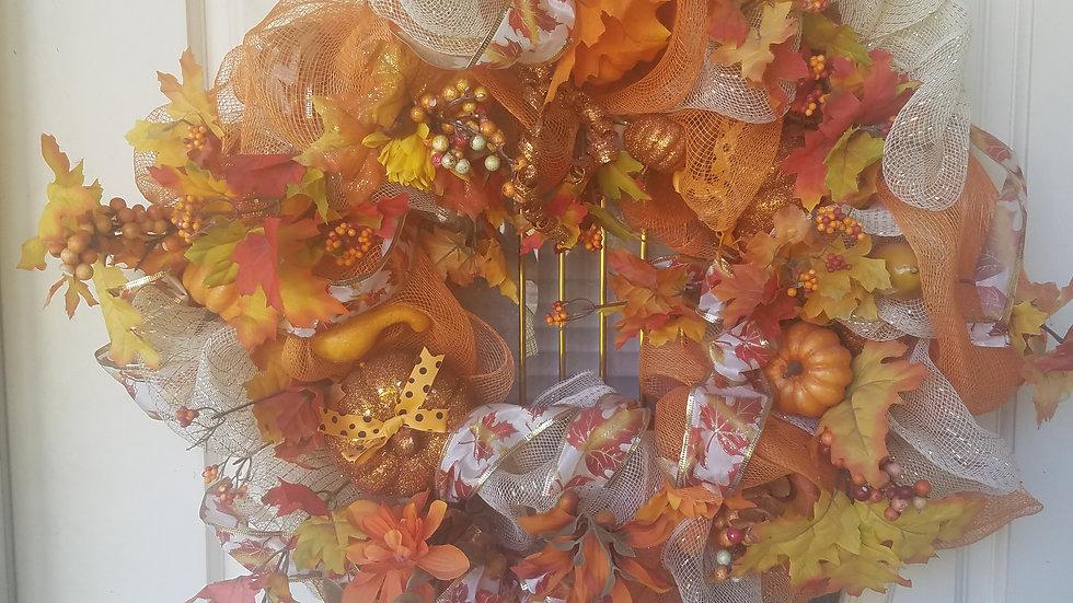 Custom Wreath - Golden Country Delight