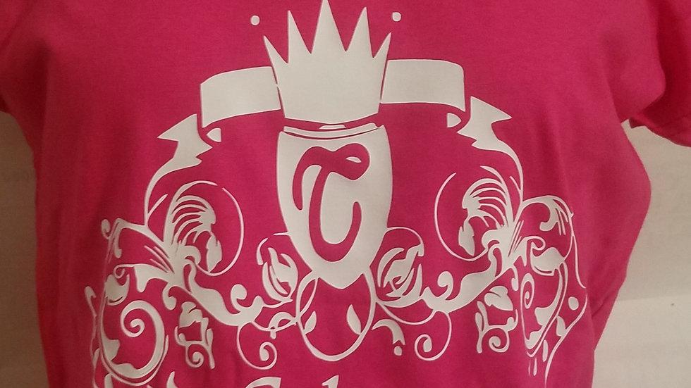 Nubiance Logo T-Shirt-Hot Pink