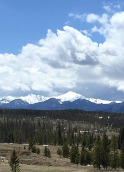 Snow-capped Byers Peak