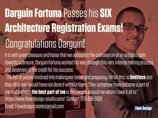 Darguin Fortuna Passes Architecture Registration Exams!