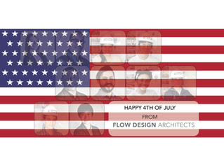 Happy Independence Day from Flow Design - Architects