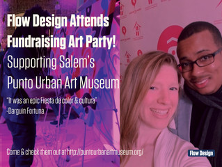 Flow Design Attends Fundraising Art Party!