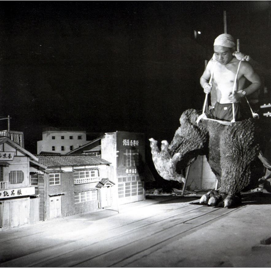 Godzilla played by Haruo Nakajina