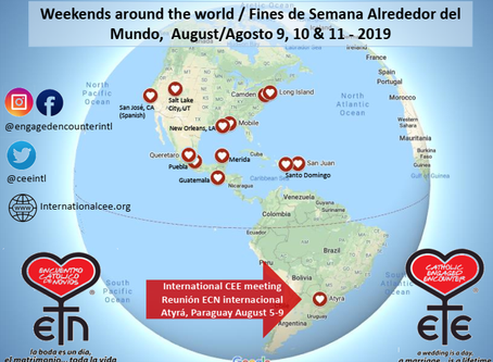 August 5-9 / 9-11, 2019 - Weekends around the world and International Meeting