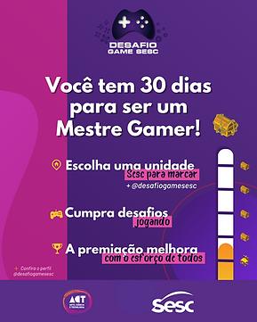 Participe do Desafio Game Sesc!