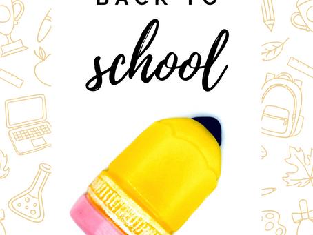 School bells are ringing!