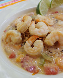 Mojo Criollo Skillet Shrimp in Coconut Tomato Soup