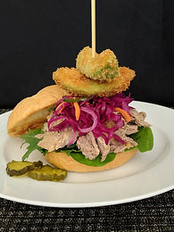 The Mojo Pig and Slaw Sandwich