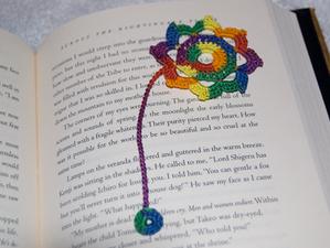 Octagonal flower bookmark