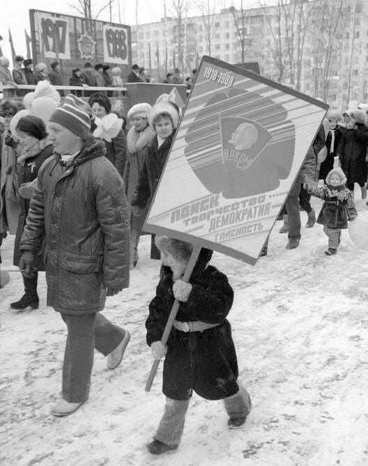 Парад 1988 года (фото Константина Рязанова)