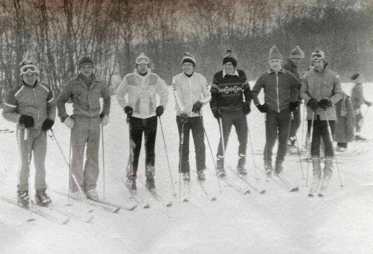 Слева направо: Евгений Стрижов, Олег Матвиенко, Михаил Грюканов, Николай Голубев, Борис Штерн, Виктор Веселов, Олег Гуров
