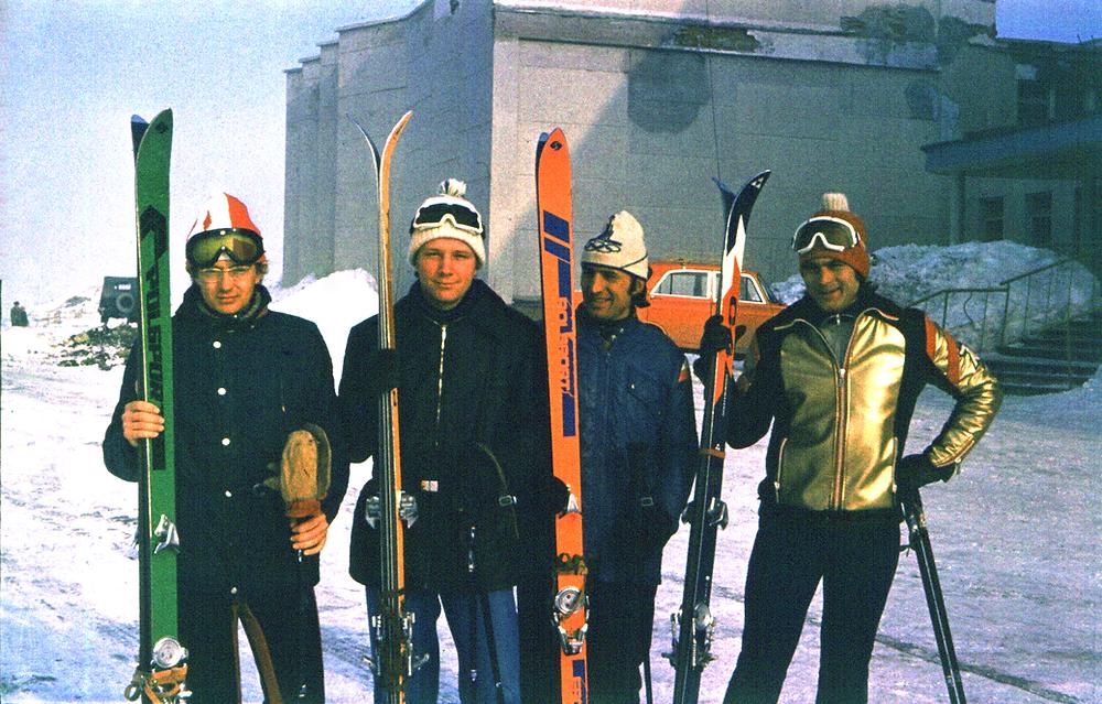Троицкие горнолыжники в Кировске (1979)