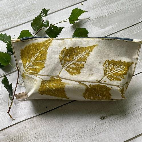 Silver birch printed vegan 'leather' pouch