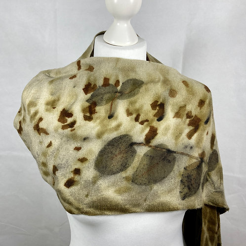 Merino wool & cashmere scarf with Eucalyptus Dalrympleana [SC45]