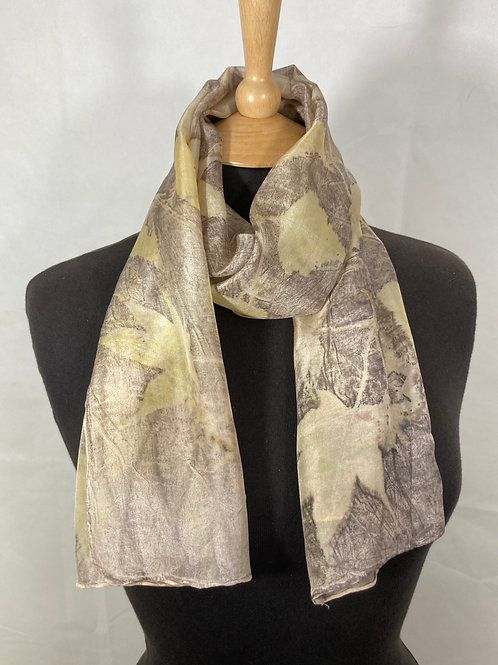 Ponge 5 silk scarf with silver birch and acers  SC03