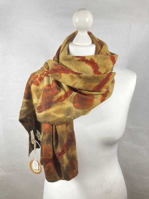 Merino wool & cashmere scarf with Eucalyptus Parvifolia and Cinerea [SC46]