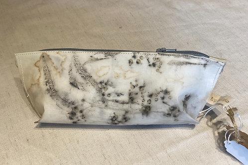 Eucalyptus printed vegan 'leather' pouch