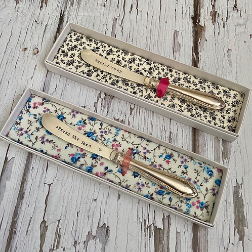 Stamped Butter Knives