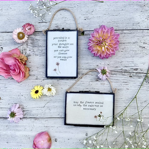 Framed flower quotes